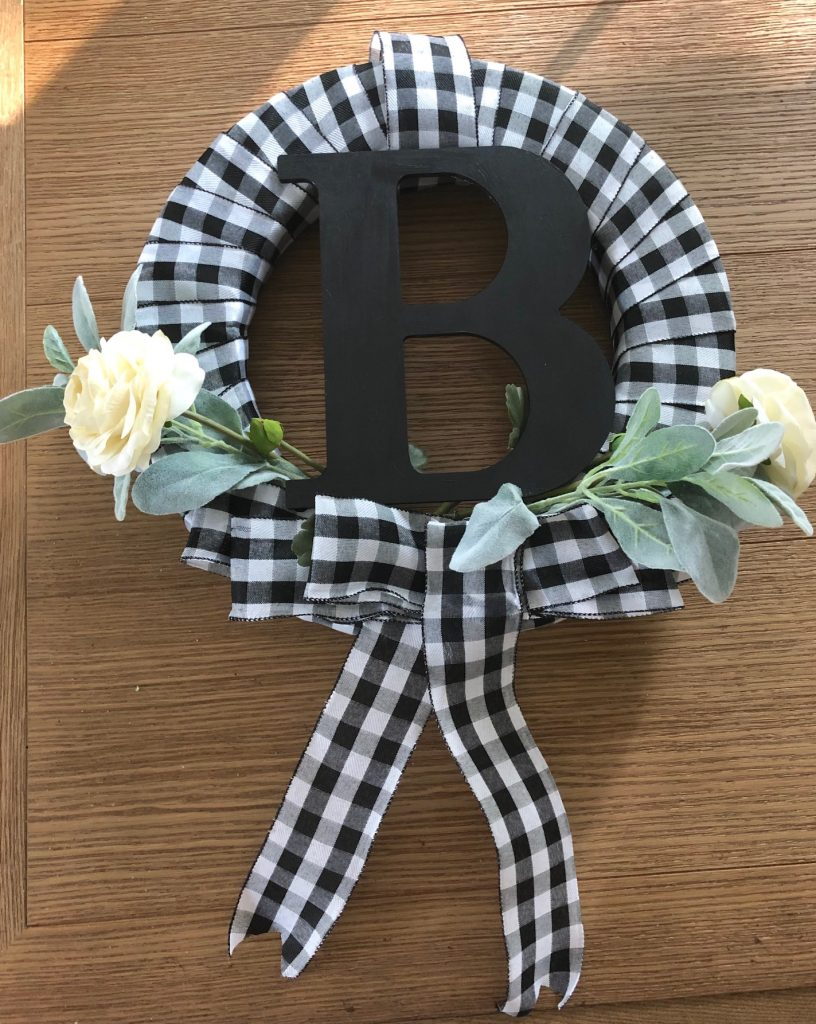 Farmhouse Initial Wreath For Late Summer Fall Crafty With A Chance Of Sprinkles